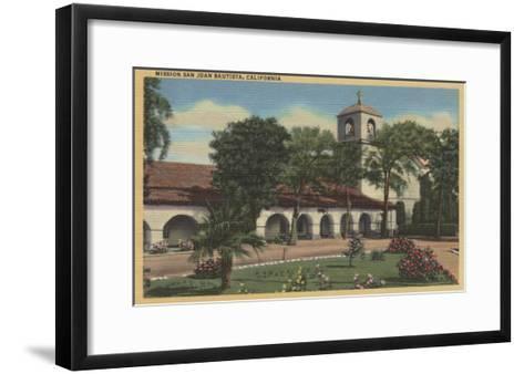 Mission San Juan Bautista, California - San Juan Bautista, CA-Lantern Press-Framed Art Print