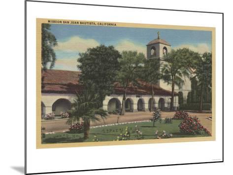 Mission San Juan Bautista, California - San Juan Bautista, CA-Lantern Press-Mounted Art Print