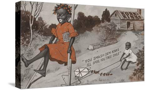 Two Black Girls Playing - Korn Kinks Advertisement-Lantern Press-Stretched Canvas Print