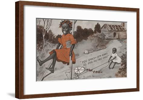 Two Black Girls Playing - Korn Kinks Advertisement-Lantern Press-Framed Art Print