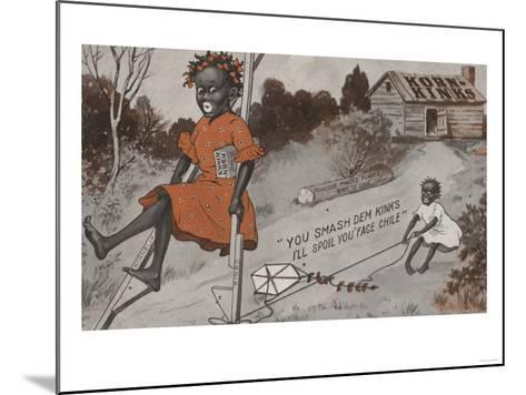 Two Black Girls Playing - Korn Kinks Advertisement-Lantern Press-Mounted Art Print
