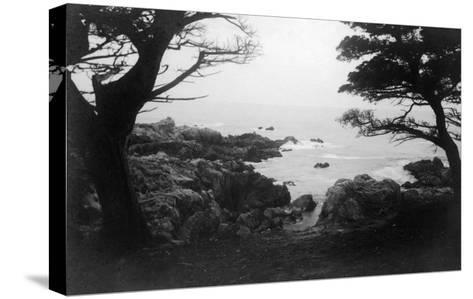 View of Monterey Bay from 17 Mile Drive - Carmel, CA-Lantern Press-Stretched Canvas Print