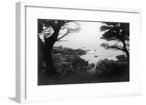 View of Monterey Bay from 17 Mile Drive - Carmel, CA-Lantern Press-Framed Art Print