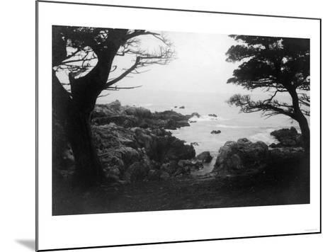 View of Monterey Bay from 17 Mile Drive - Carmel, CA-Lantern Press-Mounted Art Print