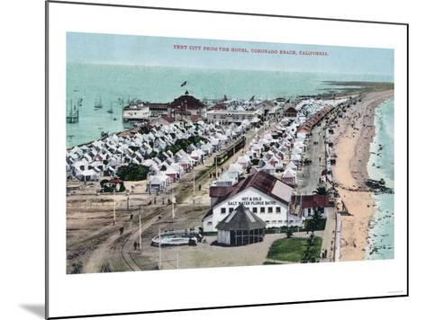 Aerial View of Tent City from Hotel del Coronado - Coronado Beach, CA-Lantern Press-Mounted Art Print