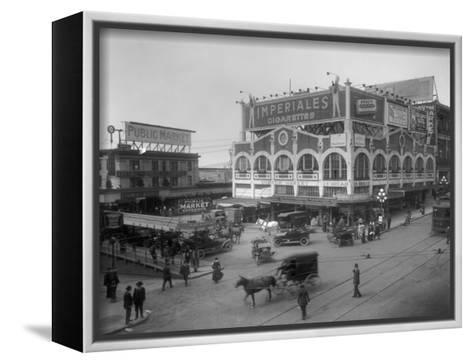 Pike Place Market Photograph - Seattle, WA-Lantern Press-Framed Canvas Print