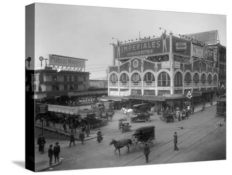Pike Place Market Photograph - Seattle, WA-Lantern Press-Stretched Canvas Print