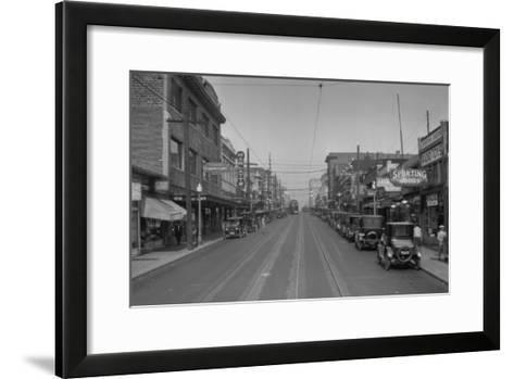 University Way looking North Photograph - Seattle, WA-Lantern Press-Framed Art Print