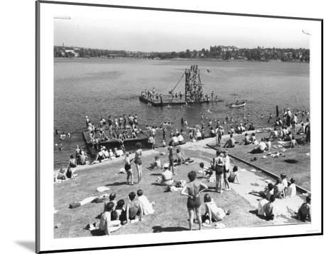 Green Lake Swimming Beach Photograph - Seattle, WA-Lantern Press-Mounted Art Print