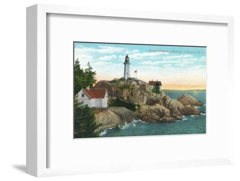 View of Point Atkinson Lighthouse - Vancouver, BC, Canada-Lantern Press-Framed Art Print