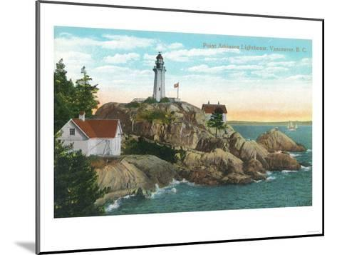 View of Point Atkinson Lighthouse - Vancouver, BC, Canada-Lantern Press-Mounted Art Print