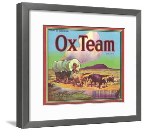 Ox Team Apple Label - Wenatchee, WA-Lantern Press-Framed Art Print