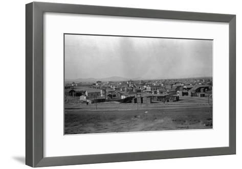 Aerial View of the Town - Pasco, WA-Lantern Press-Framed Art Print