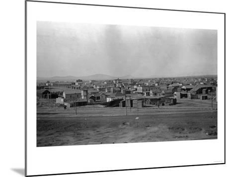 Aerial View of the Town - Pasco, WA-Lantern Press-Mounted Art Print