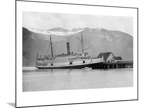 View of the SS City of Seattle at the Dock - Fort Seward, AK-Lantern Press-Mounted Art Print