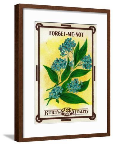 Forget Me Not Seed Packet-Lantern Press-Framed Art Print