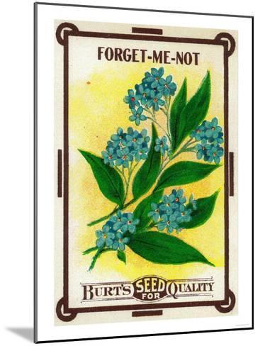 Forget Me Not Seed Packet-Lantern Press-Mounted Art Print
