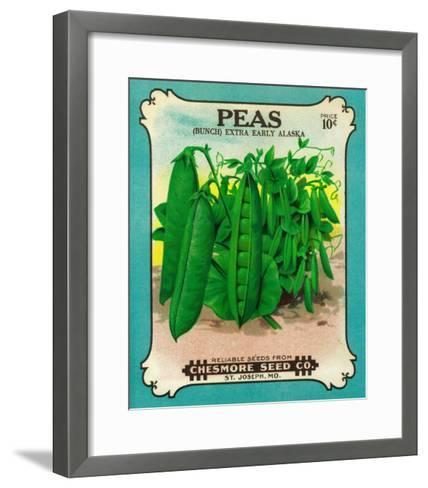 Peas Seed Packet-Lantern Press-Framed Art Print