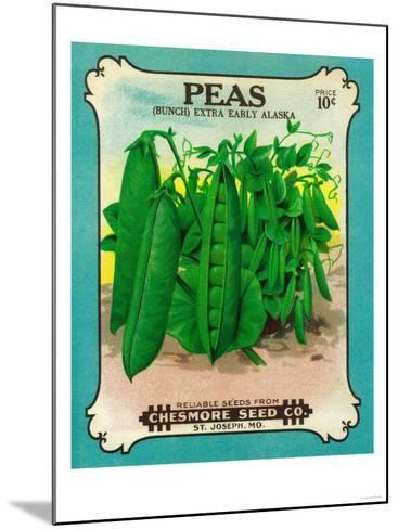 Peas Seed Packet-Lantern Press-Mounted Art Print