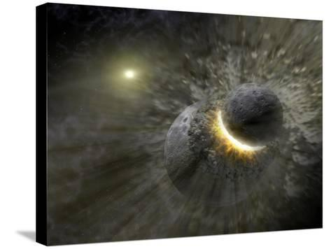 Artist's Concept Space Collision at Vega Photograph - Outer Space-Lantern Press-Stretched Canvas Print