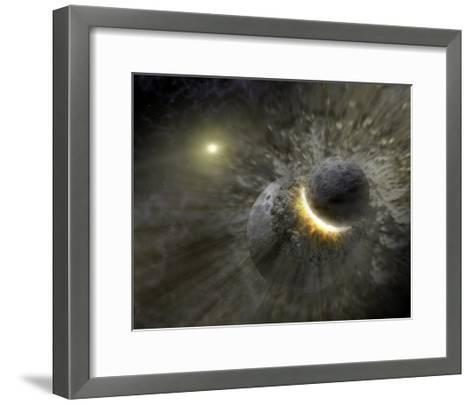 Artist's Concept Space Collision at Vega Photograph - Outer Space-Lantern Press-Framed Art Print