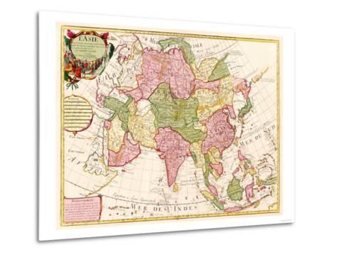 Asia - Panoramic Map-Lantern Press-Metal Print