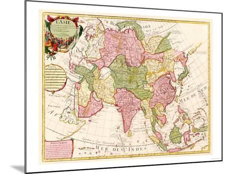 Asia - Panoramic Map-Lantern Press-Mounted Art Print