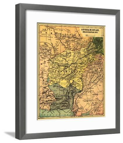 Afghanistan and Surrounding Countries - Panoramic Map - Afghanistan-Lantern Press-Framed Art Print