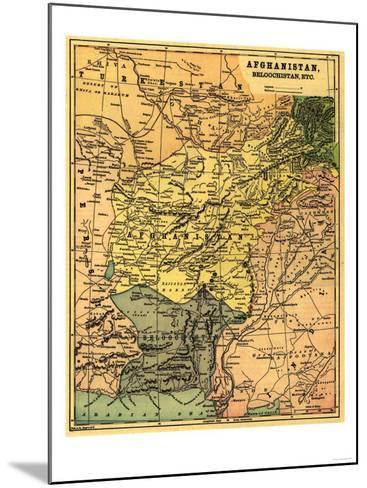 Afghanistan and Surrounding Countries - Panoramic Map - Afghanistan-Lantern Press-Mounted Art Print
