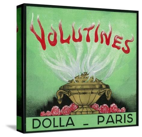 Volutines Perfume Label - Paris, France-Lantern Press-Stretched Canvas Print