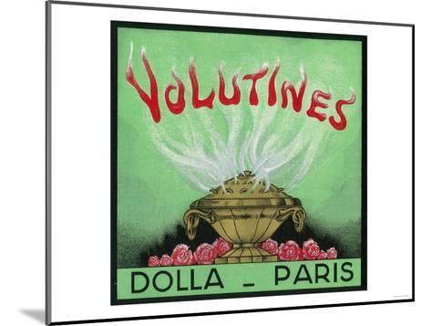 Volutines Perfume Label - Paris, France-Lantern Press-Mounted Art Print