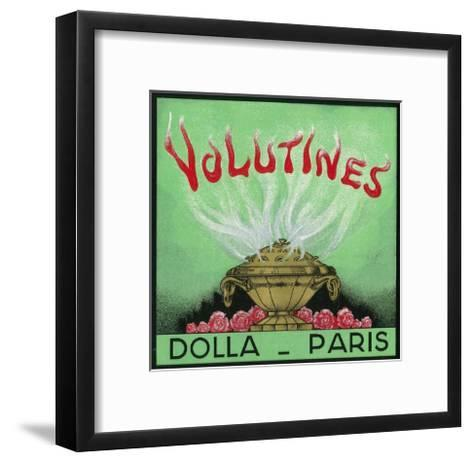 Volutines Perfume Label - Paris, France-Lantern Press-Framed Art Print