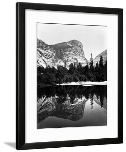 Yosemite National Park, Mirror Lake Photograph - Yosemite, CA-Lantern Press-Framed Art Print