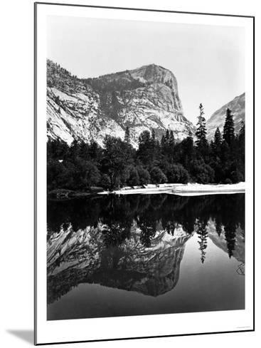 Yosemite National Park, Mirror Lake Photograph - Yosemite, CA-Lantern Press-Mounted Art Print