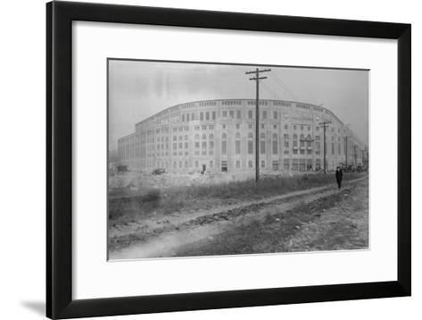 Yankee Stadium Baseball Field Photograph - New York, NY-Lantern Press-Framed Art Print