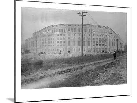 Yankee Stadium Baseball Field Photograph - New York, NY-Lantern Press-Mounted Art Print