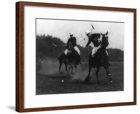 War Department Polo Association Match Photograph - Washington, DC-Lantern Press-Framed Art Print