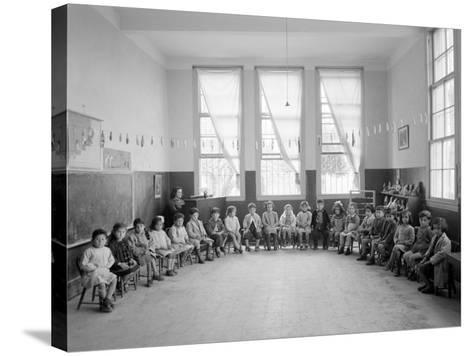 American Mission Girl's School Kindergarten Photograph - Tripoli, Lebanon-Lantern Press-Stretched Canvas Print
