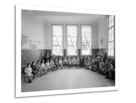 American Mission Girl's School Kindergarten Photograph - Tripoli, Lebanon-Lantern Press-Metal Print