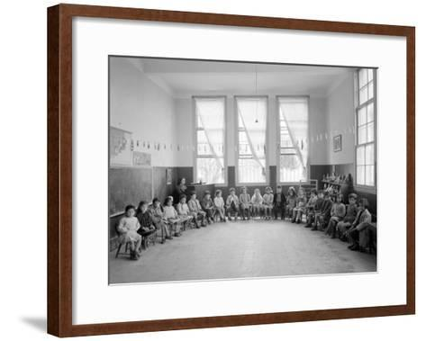 American Mission Girl's School Kindergarten Photograph - Tripoli, Lebanon-Lantern Press-Framed Art Print