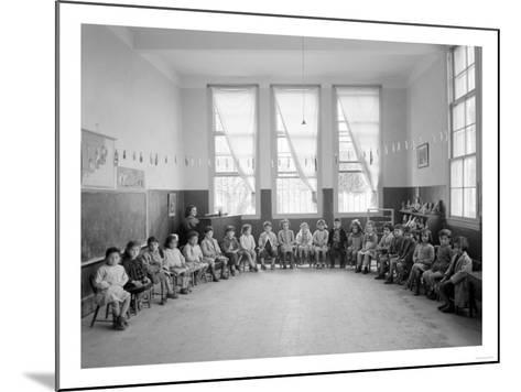 American Mission Girl's School Kindergarten Photograph - Tripoli, Lebanon-Lantern Press-Mounted Art Print