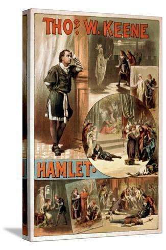 "William Shakespeare ""Hamlet"" Theatre Poster-Lantern Press-Stretched Canvas Print"
