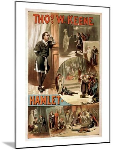 "William Shakespeare ""Hamlet"" Theatre Poster-Lantern Press-Mounted Art Print"