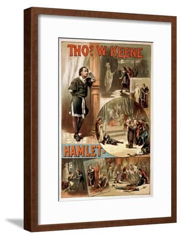"""William Shakespeare """"Hamlet"""" Theatre Poster-Lantern Press-Framed Art Print"""