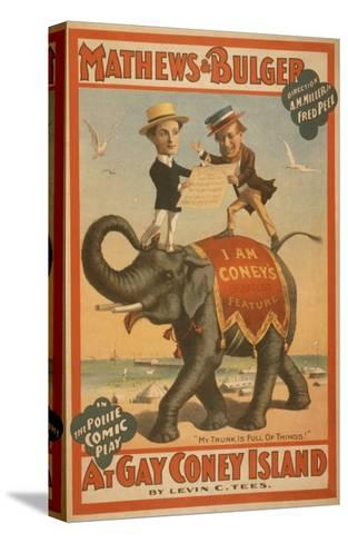 """At Gay Coney Island"" Musical Comedy Poster No.3-Lantern Press-Stretched Canvas Print"