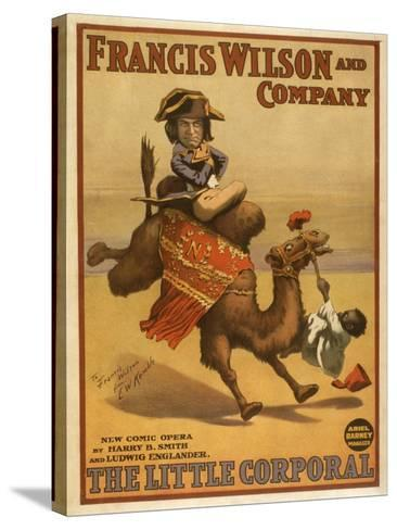 """""""The Little Corporal"""" Camel Egyptian Baby Theatre Poster-Lantern Press-Stretched Canvas Print"""