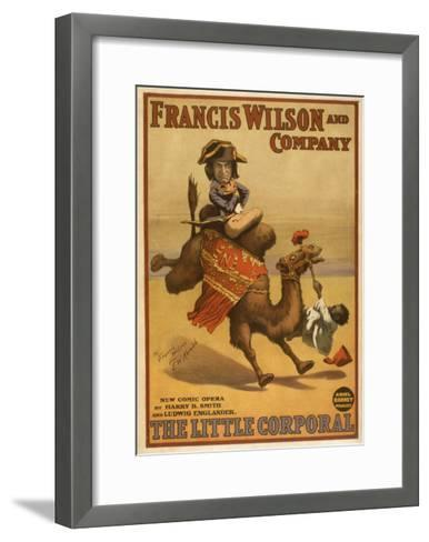 """The Little Corporal"" Camel Egyptian Baby Theatre Poster-Lantern Press-Framed Art Print"