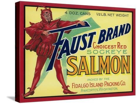Anacortes, Washington - Faust Salmon Case Label-Lantern Press-Stretched Canvas Print