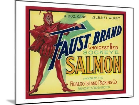 Anacortes, Washington - Faust Salmon Case Label-Lantern Press-Mounted Art Print