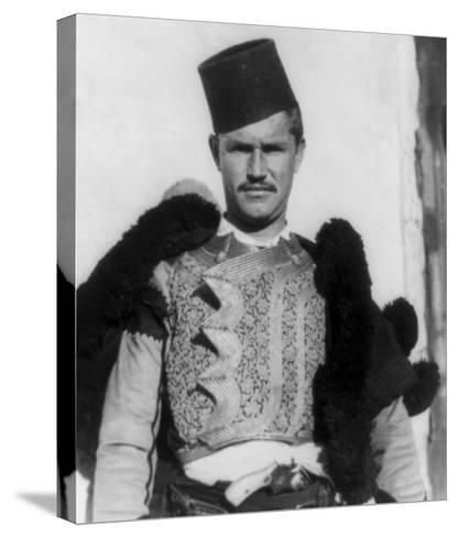 "Albanian Shkypetars ""Men of the Eagle"" Photograph - Albania-Lantern Press-Stretched Canvas Print"